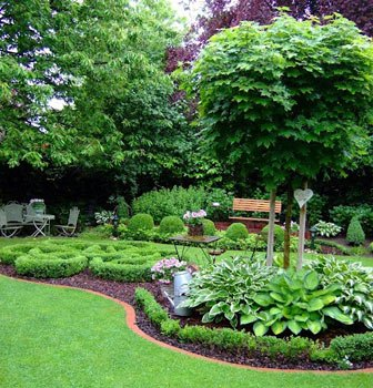 Акцентированные границы в саду