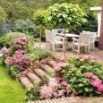 Зона отдыха в маленьком саде